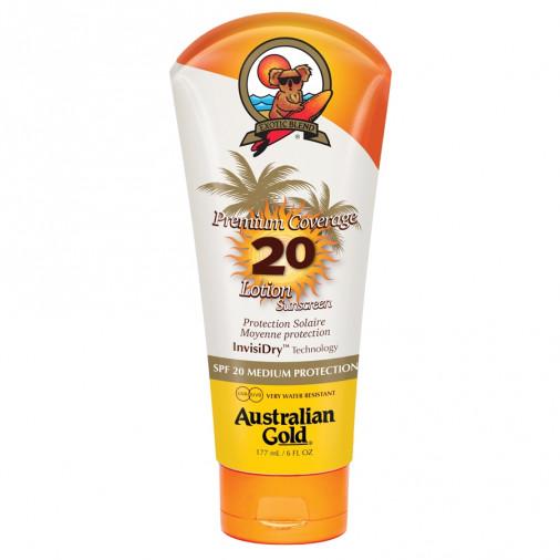 Australian Gold SPF20 Premium Coverage Lotion Sunscreen 177 ml