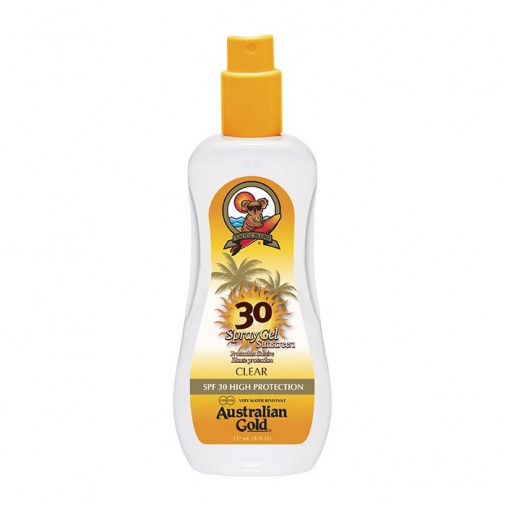 Australian Gold SPF30 spray gel sunscreen clear 237 ml
