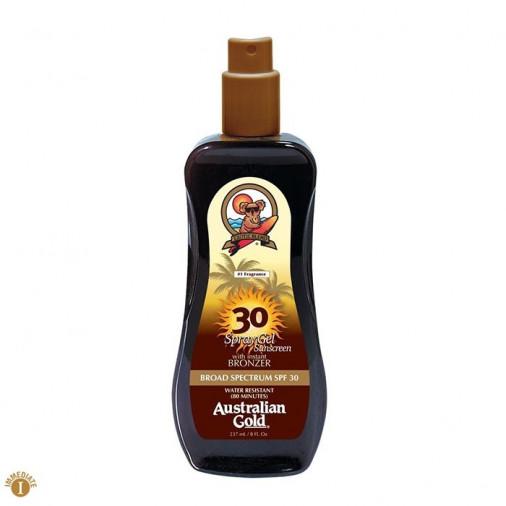 Australian Gold SPF30 spray gel con bronzer 237 ml