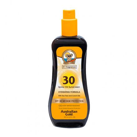 Australian Gold SPF30 Spray Oil Sunscreen con carrot 237 ml