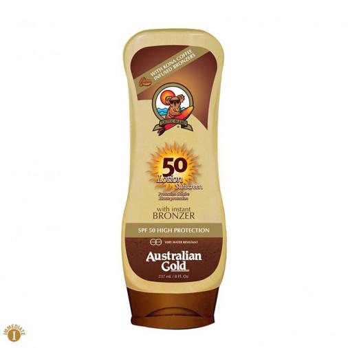 Australian Gold SPF50 Lotion Sunscreen bronzer 237 ml