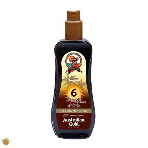 Australian Gold SPF6 Spray Gel Sunscreen bronzer 237 ml