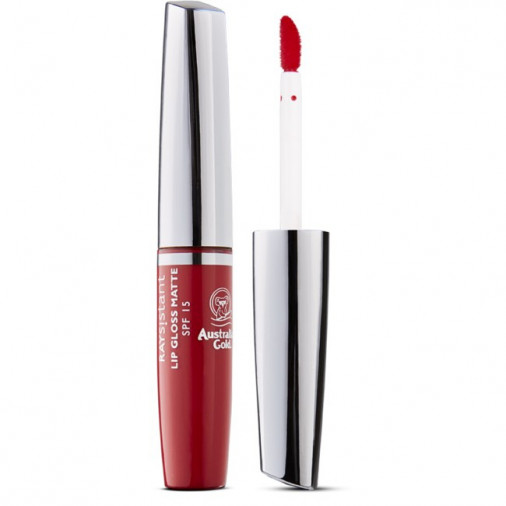 Australian gold raysistant lip gloss matte red spf15