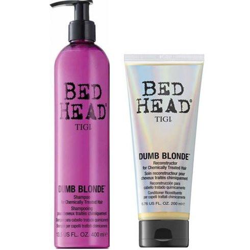 Tigi Bed Head kit Dumb Blonde shampoo + balsamo Dumb Blonde Reconstructor