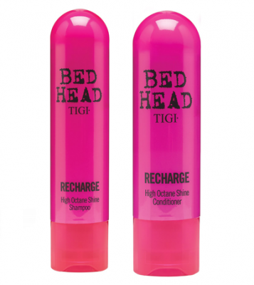Tigi Bed Head kit Recharge high-octane shine shampoo + balsamo