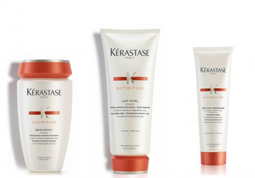 Kit nutrimento Kérastase capelli normali fini shampoo balsamo crema