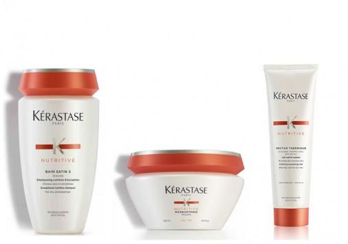 kit nutrimento Kérastase capelli secchi fini shampoo maschera crema