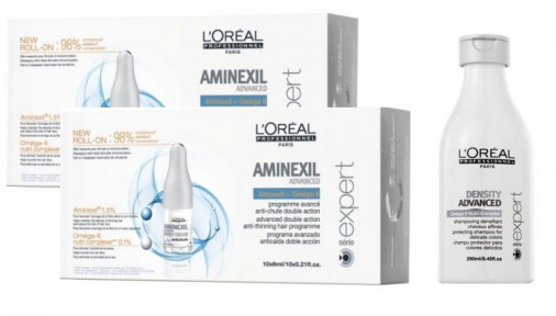 L'Oréal Pro Série Expert Programma densificante di mantenimento Aminexil advanced pro hair regular 20 (20 fiale + shampoo density advanced)