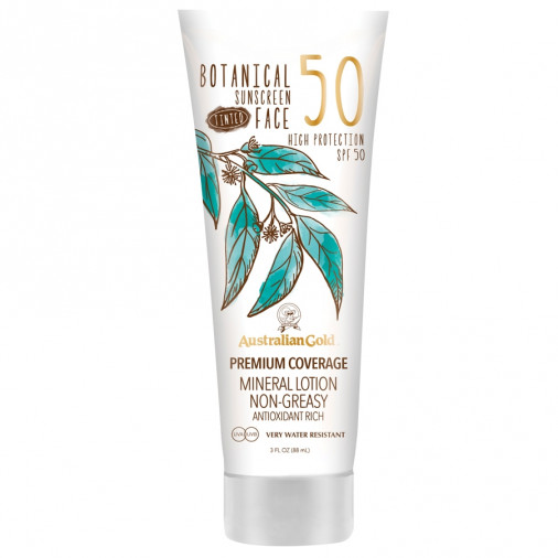 Australian Gold SPF50 Botanical Suncscreen tinted face lotion 89 ml