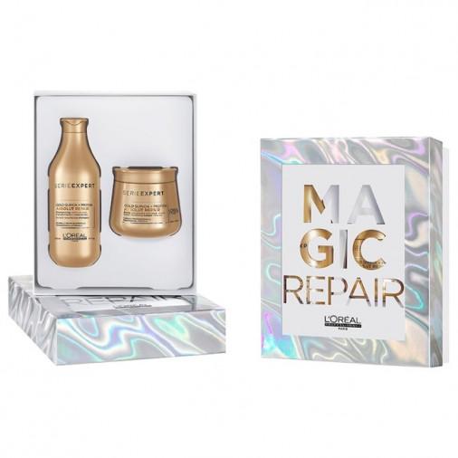 L'oreal pro magic repair xmas box shampoo 300 ml + maschera 250 ml