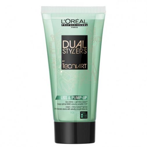 L'Oréal Pro Tecni Art Dual stylers crema-duo Liss & pump up 150 ml*