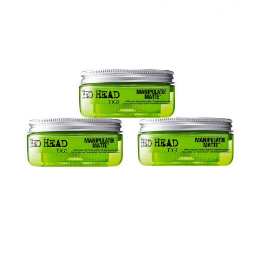 Kit 3 pezzi cera opaca per capelli Manipulator Matte Bed Head Tigi 57 gr