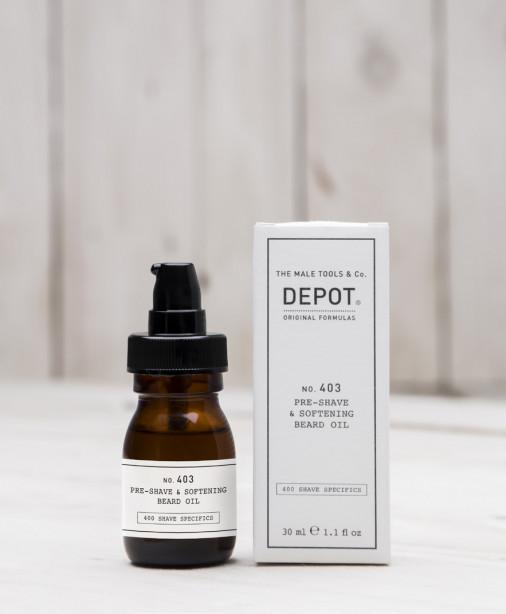 Depot n° 403 - Pre-shave & softening beard oil fresh black pepper 30 ml