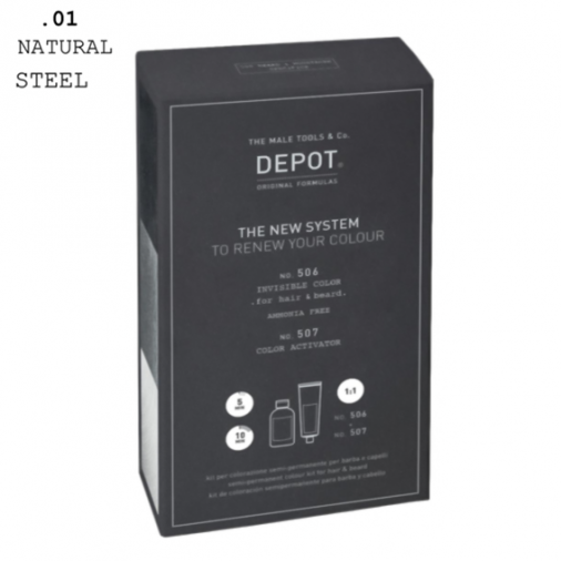 Depot n° 506 e n° 507 invisible color .01 natural steel