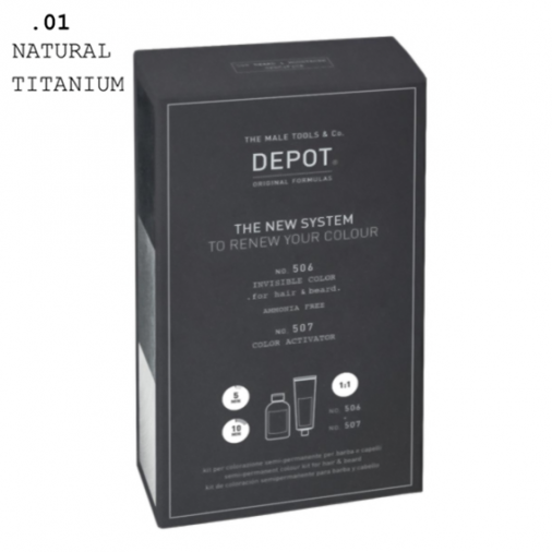 Depot n° 506 e n° 507 invisible color .01 natural titanium