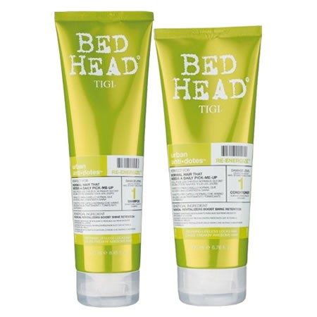Tigi Bed Head Kit urban antidotes re-energize shampoo + balsamo
