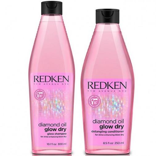 Redken diamond oil glow dry shampoo e conditioner