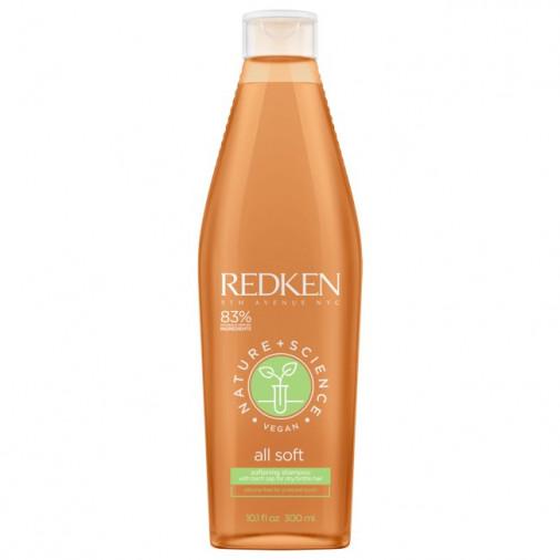 Redken all solft nature+science vegan shampoo 300 ml