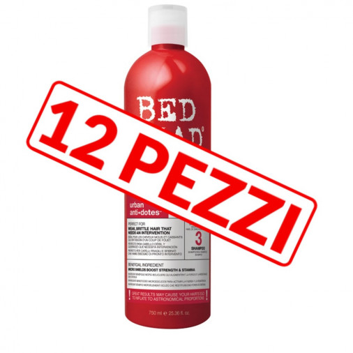 Shampoo riparatore Tigi Resurrection per capelli danneggiati kit 12 pezzi 750 ml