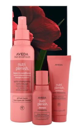 Aveda nutriplenish deep moisture hair trio