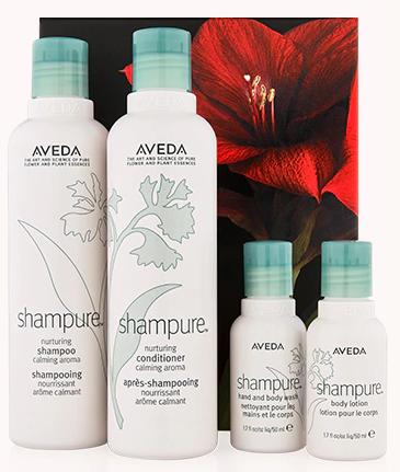 Aveda shampure nurturing hair and body care kit