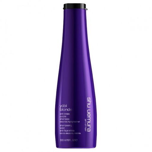 Shu uemura yubi blonde anti-brass purple shampoo 300 ml