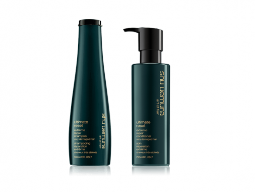 Shu uemura kit Ultimate reset shampoo balsamo capelli sfibrati sottili