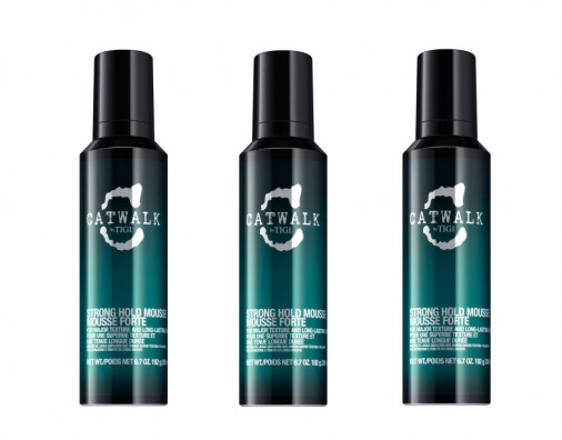 Kit 3 pezzi  Tigi Catwalk styling Strong mousse 200 ml