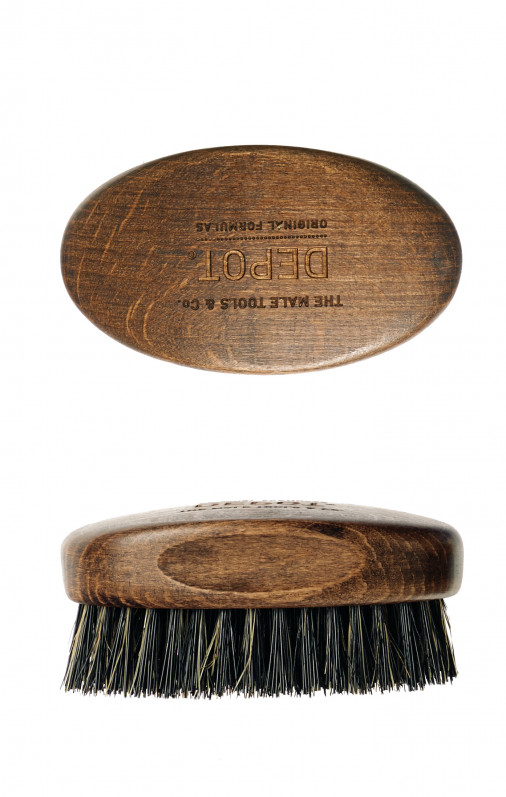 Depot accessori spazzola da barba Wooden beard small brush 722