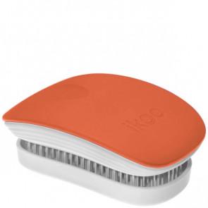 Spazzola compatta districante Ikoo ideale per la borsetta rosa soft touch