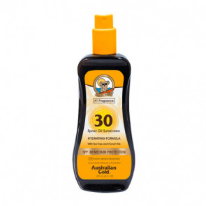 Australian Gold SPF30 Spray Oil Sunscreen con carrot 237 ml