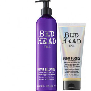 Tigi Bed Head kit Dumb Blonde purple toning shampoo + balsamo Dumb Blonde Reconstructor