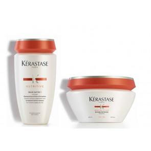 Kérastase nutritive kit irisome bain satin 1 + masquintense per capelli fini