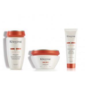Kérastase Rituel nutritive irisome bain satin 1 + masquintense capelli fini + nectar thermique