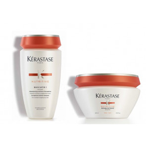 Kérastase nutritive kit irisome bain satin 1 + masquintense per capelli grossi
