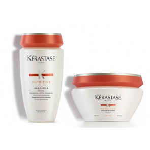 Kérastase nutritive kit irisome bain satin 2 + masquintense per capelli fini