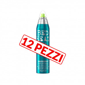 Kit 12 pezzi lacca luminosa a tenuta media anti-crespo Tigi Bed head 300 ml