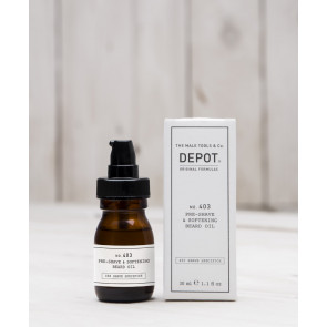 Depot n° 403 - Pre-shave & softening beard oil fresh black pepper 30 ml