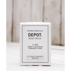 Depot n° 504 - Beard & moustache cleansing wipes 12 pz
