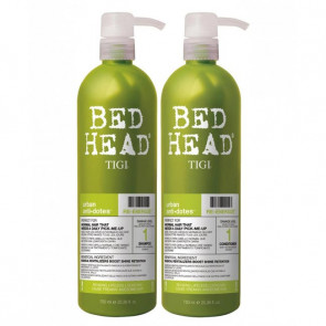 Tigi Bed Head Kit maxi urban antidotes re-energize shampoo + balsamo 750 ml