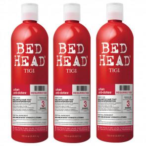 Shampoo riparatore Tigi Resurrection per capelli danneggiati kit 3 pezzi 750 ml
