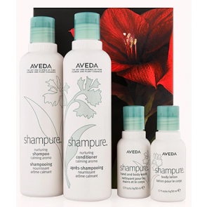 Aveda shampure nurturing hair and body care kit