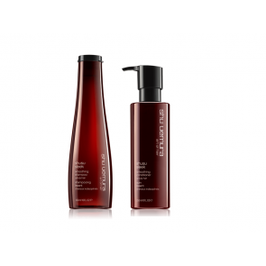 shu uemura shusu sleek kit shampoo e conditioner capelli crespi