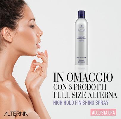 Lacca spray in omaggio con 3 prodotti full size Alterna