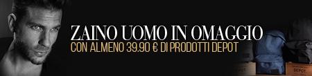 Promo zaino uomo Depot - con 39,90 euro di prodotti Depot